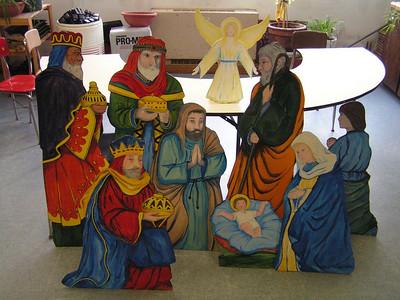 Nativity Figures, latex on plywood, Feb 2007