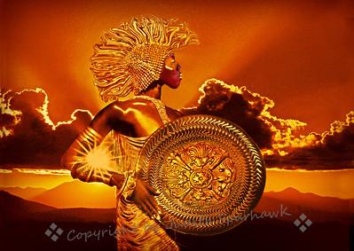 Goddess of the Setting Sun
