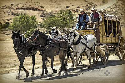 Stagecoach Days ~ A reworking of an image, giving it a more painterly look.