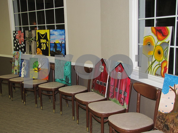 Some examples of paintings created in past 'Creative Spirits' classes.  Class schedules can be found on their website.