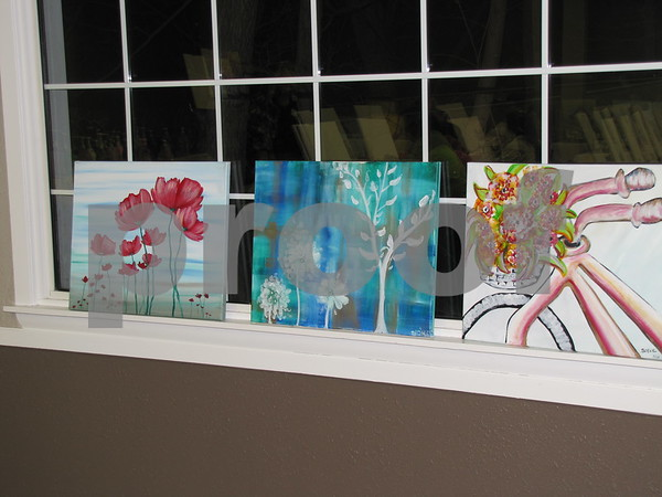 Some examples of paintings created in past 'Creative Spirits' classes.