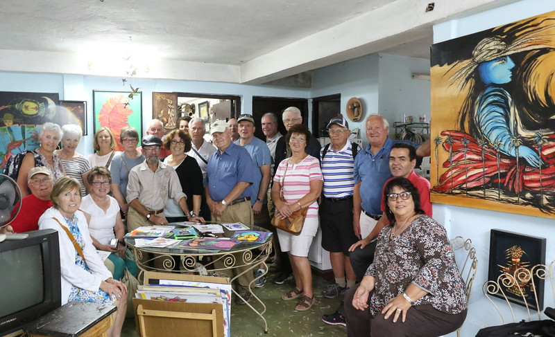 MEDA Sarasota Chapter Delegation in the home of Saulo Serrano on March 20th, 2017