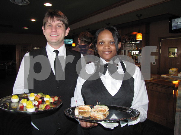ICCC culinary students served appetizers to guests at the Art Expose' at Willow Ridge Restaurant.