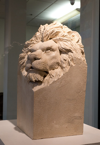 Lion in Concrete