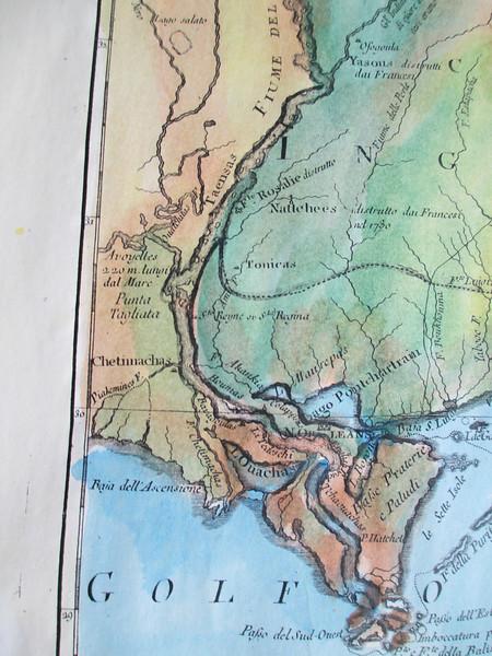 detail of Golfo del Messico   Vicksburg to Gulf