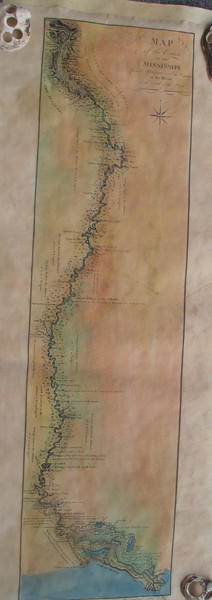 "beautiful Map of the Course of the Lower Miss  9x34""  $250"