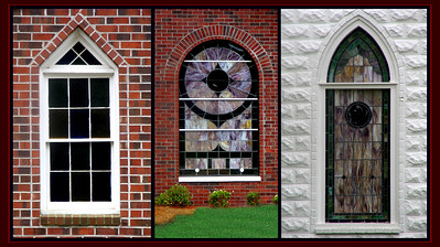 Old church windows from historic churches.