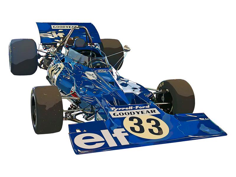 Tyrrell 001 Digital Artwork
