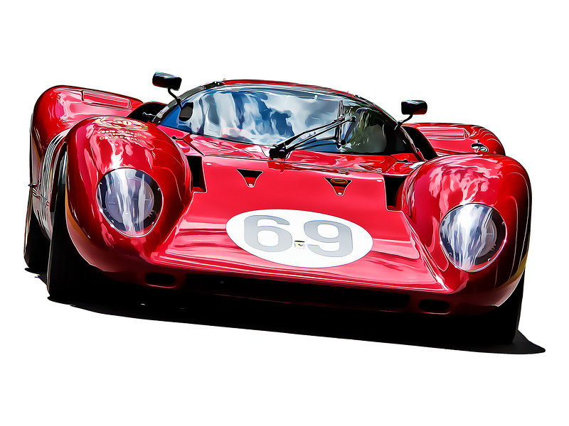 Ferrari 312 P Belinetta Digital Artwork