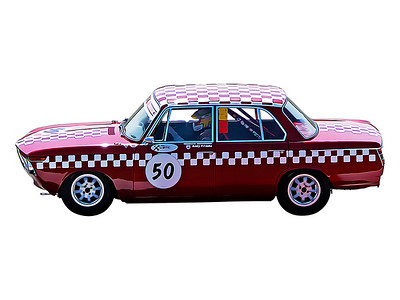 Silverstone Classic, 1965 BMW 1800 Ti Digital Artwork