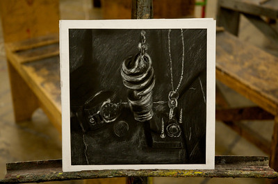 Light Studies - White Pencil on Black Paper