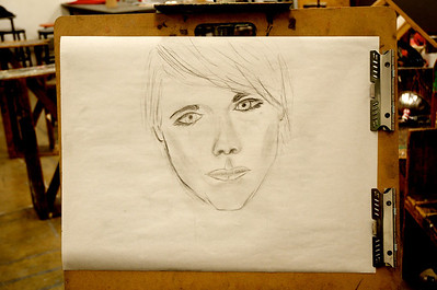 Meet Patrice - Vine Charcoal on Newsprint - One of my very first attempts at drawing a human subject