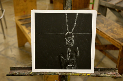 Light Studies 2 - White Pencil on Black Paper