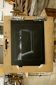 Poltergeist (2) - White Pencil on Black Paper