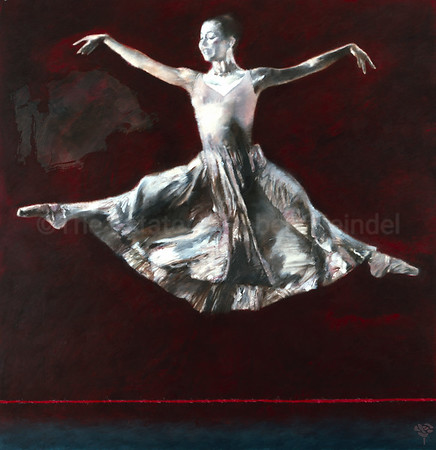 Dancer on a Red Stage