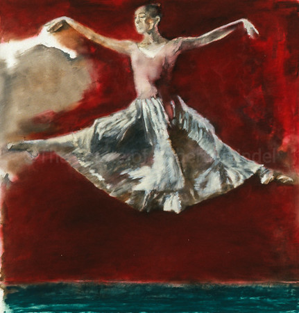 Study for Dancer on a Red Stage