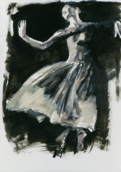 Study for White Skirt on Black