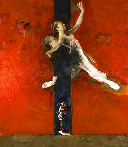 Pas de Deux on Red