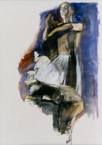 White Skirt on Violet
