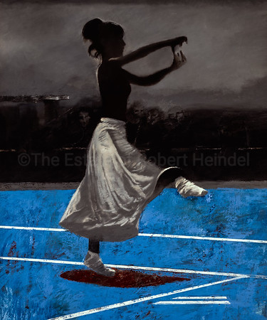 White Skirt, Blue Floor (2005)