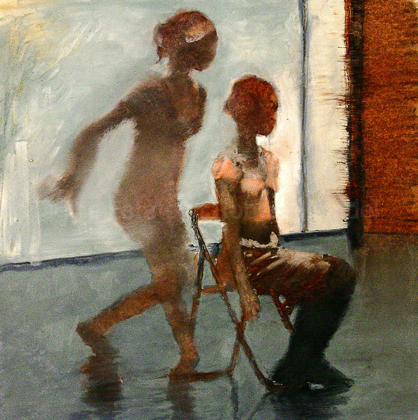 Dancer Sitting, Dancer Standing- Colour Study
