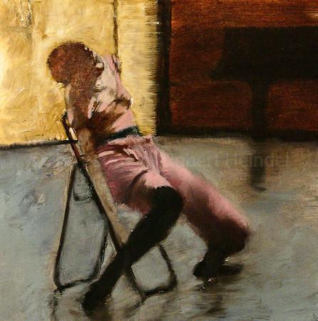 Dancer on a Black Chair, color study