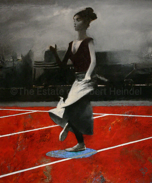 White Skirt, Red Floor