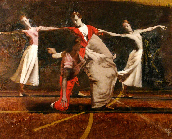 Five Dancers Red and White