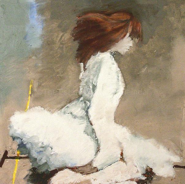 Miyako in White, Color Study
