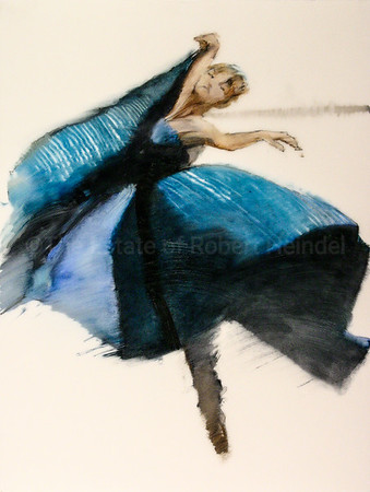The Blue Dress, Colour study