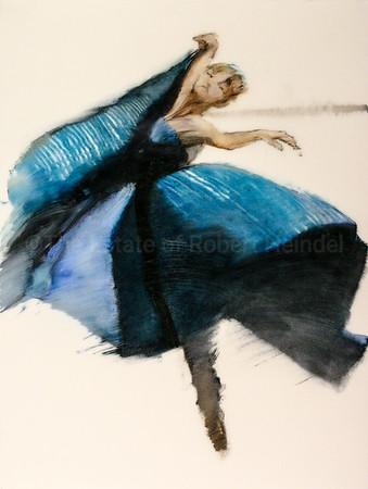 The Blue Dress, Colour study