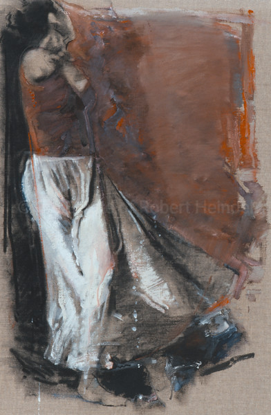 White Skirt On Canvas
