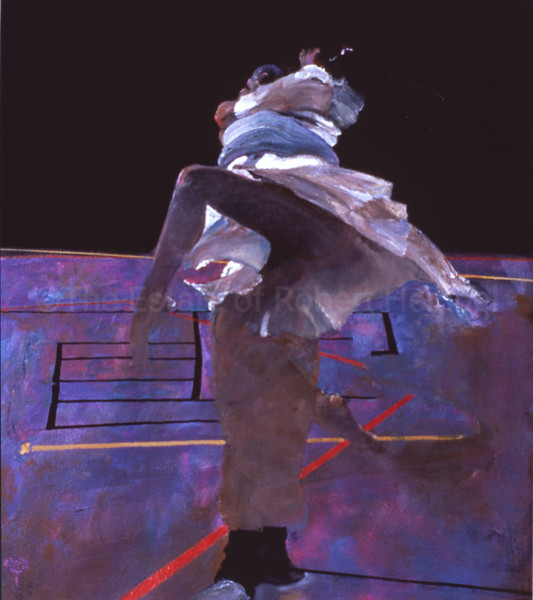 Dancer on a Purple Floor