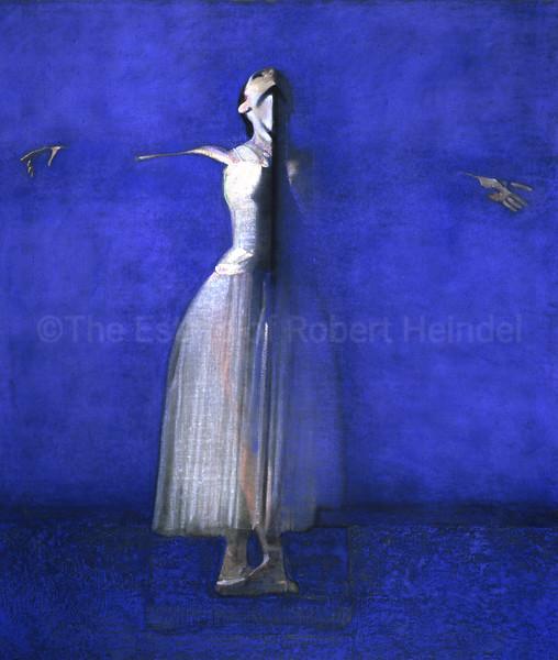 White Dress on Blue