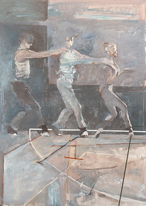Three Dancers with Floormarks (1992)