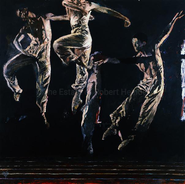 White Dancers on Black