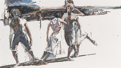 Four Dancers from Land