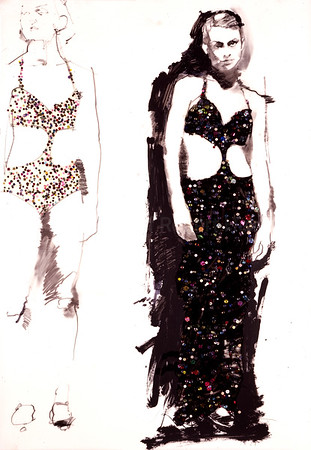 Study for The Glitter Girls (2001)