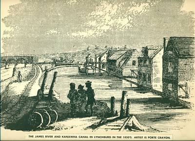 James River and Kanawha Canal in Lynchburg (06167