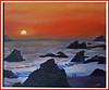 "<i>SUNSET AT HARRIS BEACH IN OREGON</i> You may contact the artist at  <a href=""mailto:davislab@trinex.net""> Davis Ranch</a>"