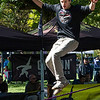 National slackline championship at the Midwest Outdoor Experience at Eastwood Metropark