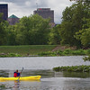 Kayaking around Island MetroPark