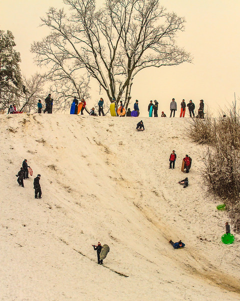 Sledding at Communnity Golf Course