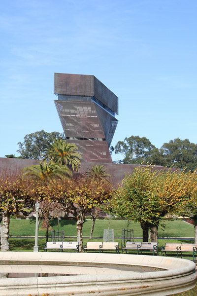 A look at the De Young Museum from near the parking garage.