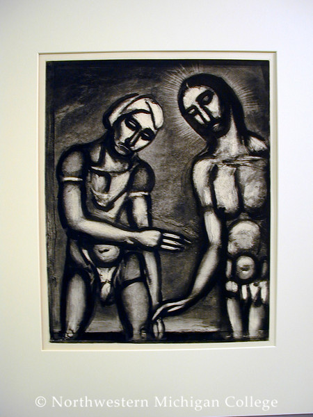 Rouault, Georges <br /> Lord it is Thou, I Know Thee     1927<br /> Mixed media intaglio<br /> Gift of Paul G. Hockstad<br /> 2004.001.001