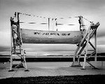Seman, Gregory D. <br /> NMC Rescue Boat, Traverse City, MI     2006<br /> Selenium toned gelatin silver print    2/35<br /> Gift of the artist<br /> 2007.003.001