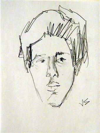 Solman, Joseph <br /> Portrait of SLS     nd<br /> Graphite on paper<br /> Gift of Vera and Stephen L. Schlesinger<br /> 2004.018.006