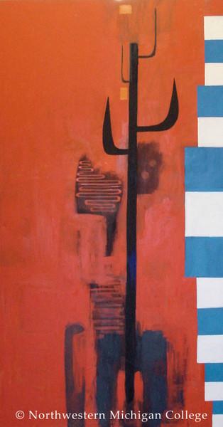 Storey, David <br /> Untitled     1983<br /> Oil on canvas<br /> Gift of Martin Sklar<br /> L2006.001.009