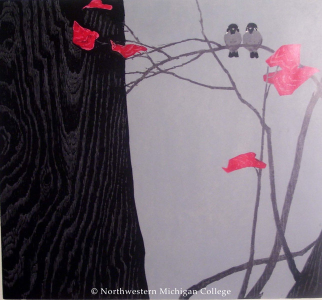 Mei, Chao <br /> Early Frost     1983<br /> Color woodcut<br /> Museum Purchase 2002/03<br /> 2002.005.001