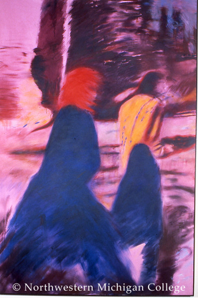 Renzoni, Louis <br /> Untitled 2     1983<br /> Acrylic on canvas<br /> Gift of the Lannan Foundation<br /> 2000.003.029